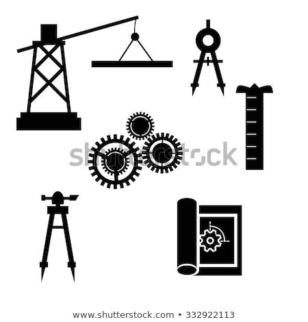 транзит уровень икона изолированный белый строительство Сток-фото © cteconsulting