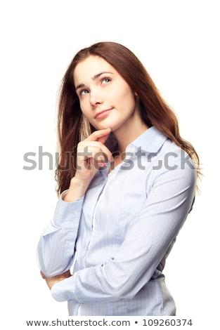 kadın · düşünme · seçim · kız - stok fotoğraf © dacasdo