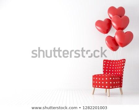 Stok fotoğraf: Kalp · sandalye · kroki · yastık · yastık