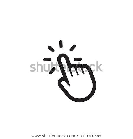 手 · カーソル · ボタン · 白 · チョーク - ストックフォト © ivelin