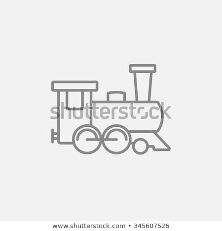 Frente tren perspectiva horizontal óxido Foto stock © ABBPhoto
