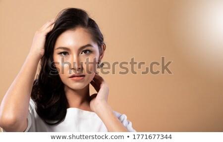 Mulher sexy retrato bastante caucasiano mulher preto Foto stock © iofoto