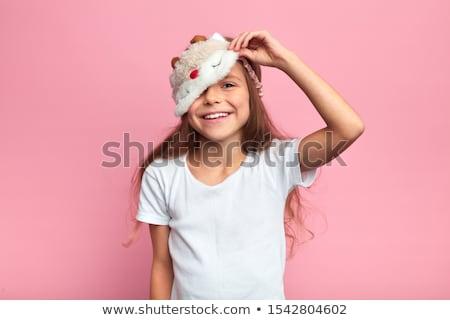 little girl is preparing for sleep Stock photo © balasoiu