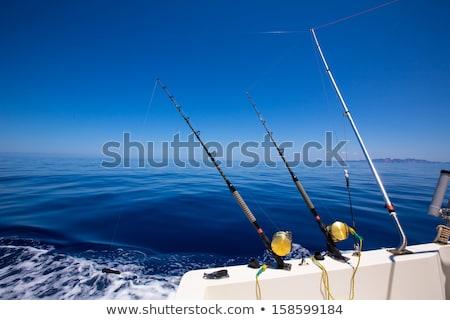 Троллинг синий морем Средиземное море воды Сток-фото © lunamarina