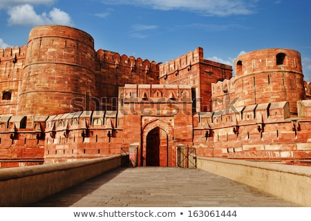 Arches at Agra Fort stock photo © faabi