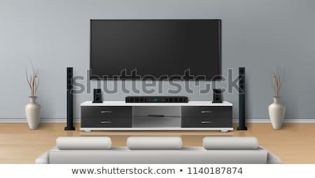テレビ スタンド ホーム 劇場 現実的な 現代 ストックフォト © sharpner