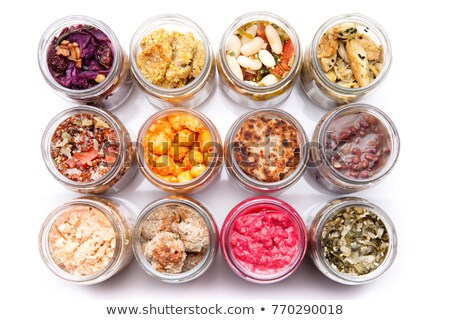 Gemengd bonen klein glas jar Stockfoto © raphotos