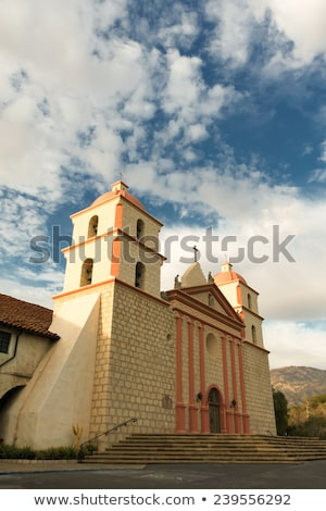 Cross Mary Statue Mission Santa Barbara California  Stock photo © billperry
