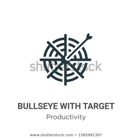Focus производительность целевой три Стрелки синий Сток-фото © tashatuvango