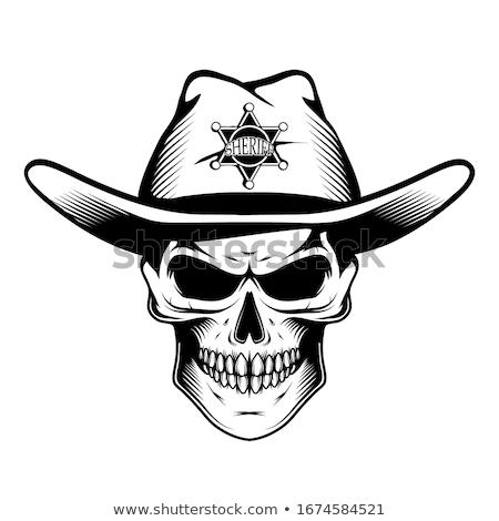Monocromático crânio ilustração bem organizado fácil Foto stock © riedjal
