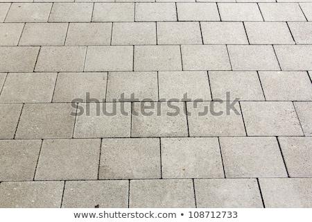 Pormenor azulejos rua harmônico padrão rocha Foto stock © meinzahn