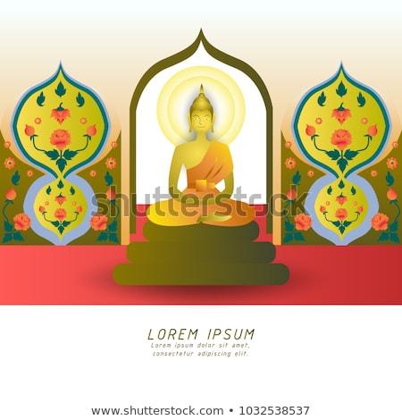 Budist tapınak iç eski sergi müze Stok fotoğraf © smithore