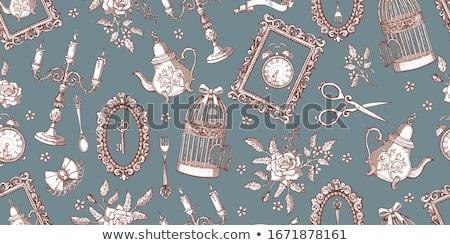 Antique chandelier métal Photo stock © Sarkao