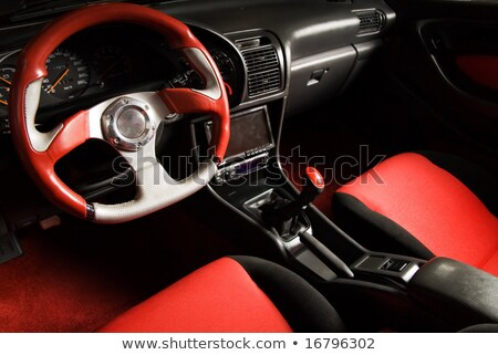 Tuned sport car. Luxury red velvet interior Stock photo © Nejron