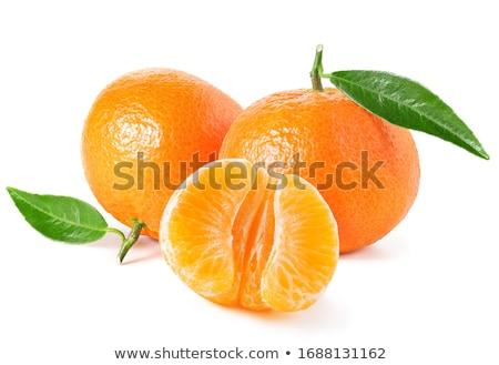 Mandarin izolált fehér levél zöld trópusi Stock fotó © natika
