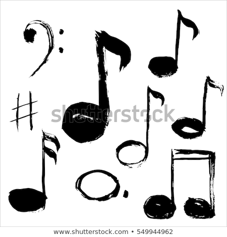 white badge of musical notes Stock photo © mayboro