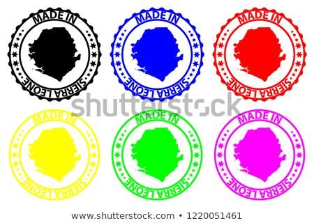 Made in Sierra Leone on Red Rubber Stamp. Stock photo © tashatuvango