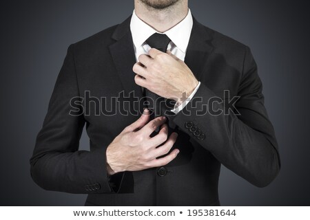 Businessman corrects his tie Stock photo © cherezoff