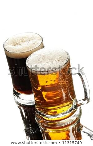 fresche · freddo · birra · isolato · bianco · vetro - foto d'archivio © tab62