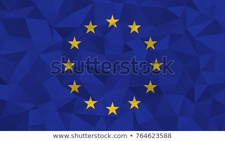 Eu banderą europejski Unii pomysł projektu Zdjęcia stock © kiddaikiddee