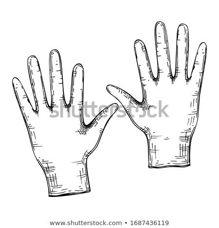 эскиз медицинской набор Vintage стиль вектора Сток-фото © kali