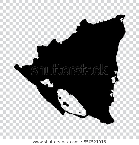 Silhueta mapa Nicarágua assinar branco Foto stock © mayboro