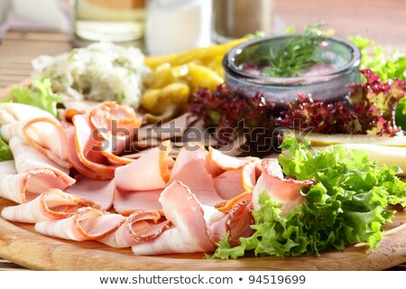 delicatessen cold meats and salad Stock photo © godfer