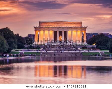Naplemente Washington DC épület város utazás fehér Stock fotó © lunamarina