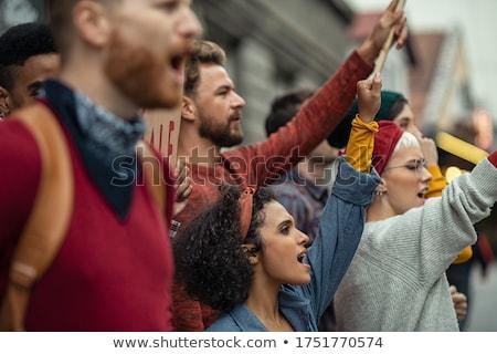 Personas huelga ilustración feliz noticias comunicación Foto stock © adrenalina