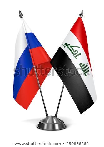 Rusland Irak miniatuur vlaggen geïsoleerd witte Stockfoto © tashatuvango