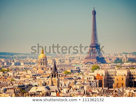 Париж Эйфелева башня Франция закат горные Сток-фото © Ionia