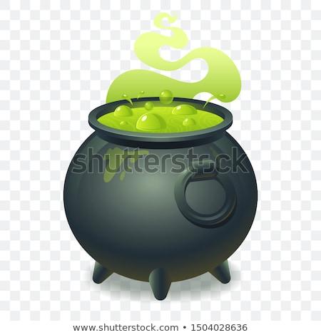 Pot with green magic potion Stock photo © orensila