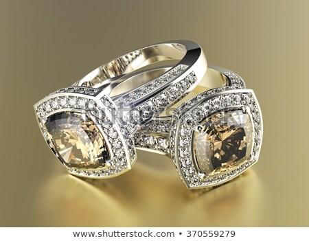 жемчужина каменные ювелирных кольца складе фото Сток-фото © nalinratphi