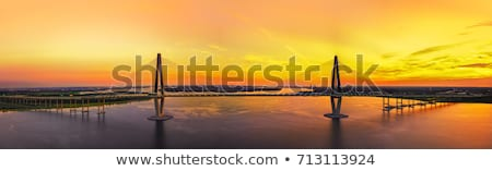 rivier · brug · South · Carolina · zonsondergang · kleur · architectuur - stockfoto © dcslim