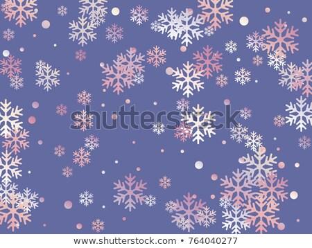 Purple snow flake pattern design Stock photo © wavebreak_media