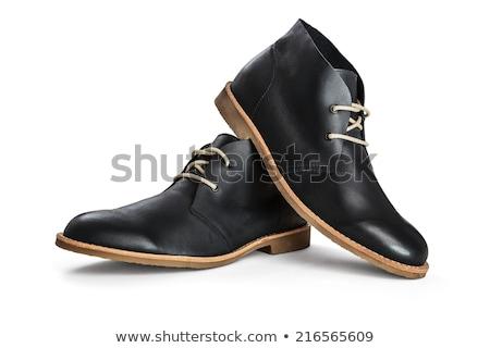 ブラウン 靴 孤立した 白 ストックフォト © Balefire9
