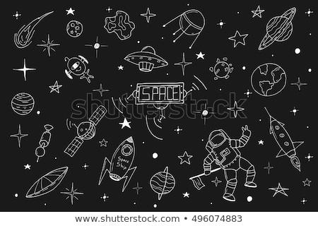 dois · cometa · espaço · céu - foto stock © rastudio