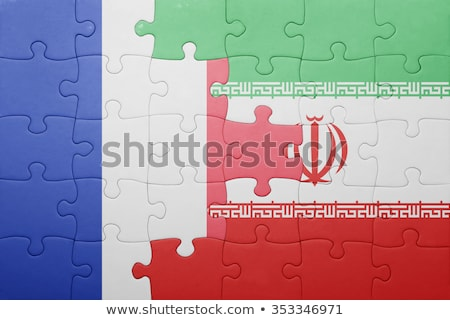 France and Iran Flags in puzzle Stock photo © Istanbul2009