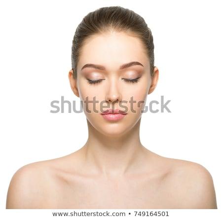 Femme jeunes dame yeux fermés Photo stock © fouroaks