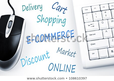 E-commerce word scheme and computer keyboard Stock photo © fuzzbones0