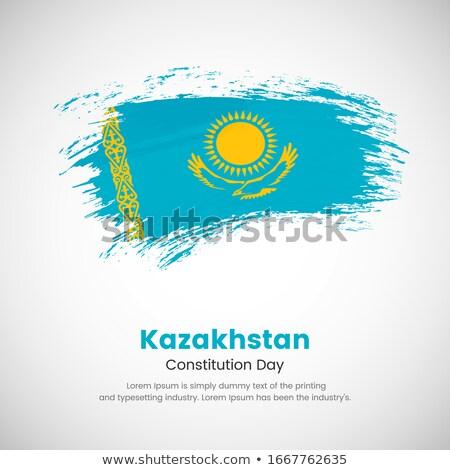 флаг Казахстан окрашенный щетка твердый аннотация Сток-фото © tang90246