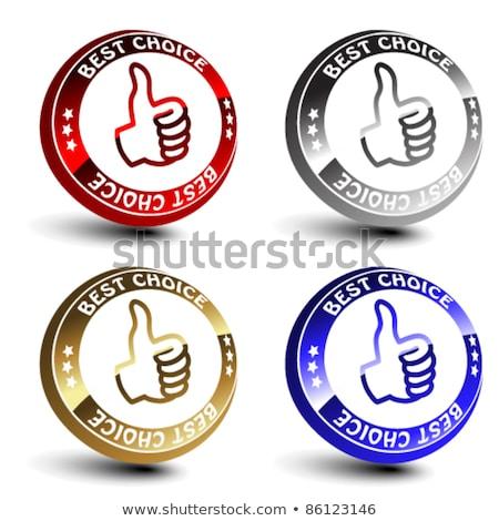 En İyi seçim parlak parlak vektör düğme Stok fotoğraf © rizwanali3d