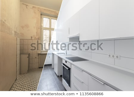 Kitchen in a newly built home Stock photo © lightkeeper