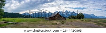 eski · ahır · panoramik · renkli · görüntü · ABD · gökyüzü - stok fotoğraf © backyard-photography