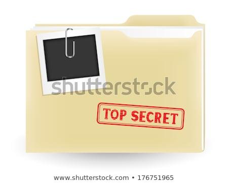 file folder labeled as service stock photo © tashatuvango