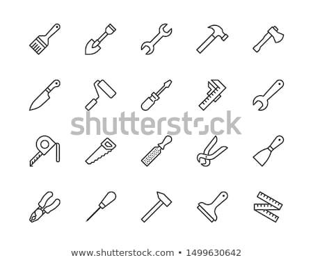Stock fotó: Spanner Tool And Screws