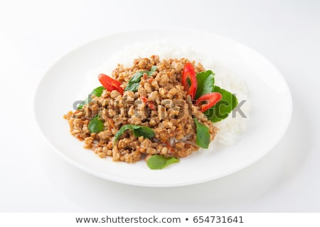 pita · brood · gevuld · chili · vlees · saus - stockfoto © digifoodstock