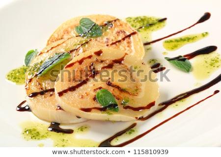 Patlıcan pesto dilimleri tava balsamik sirke Stok fotoğraf © Digifoodstock