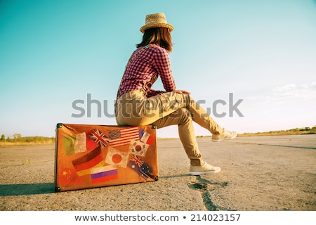 夏 帽子 旅行 世界 アジア 地図 ストックフォト © compuinfoto