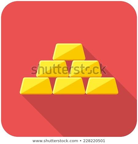 Goldbarren Tasten weiß Hintergrund rot Gold Stock foto © bluering